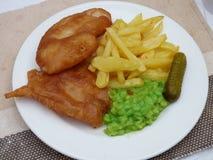 La maison a fait des poisson-frites Image stock