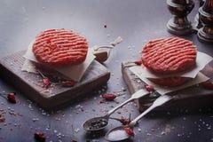 La maison a fait la cuisson d'hamburger Photo libre de droits