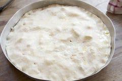 La maison a fait la pâte de pizza Image libre de droits