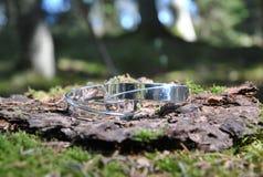 La maison a fait le bracelet argenté Photo stock