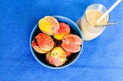 La maison a fait le coffe de bonbon et de milk-shake Images libres de droits