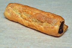 La maison a fait le petit pain de saucisse Images stock
