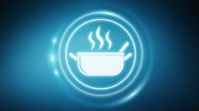 La maison a fait le rendu de l'interface 3D d'application de nourriture illustration de vecteur