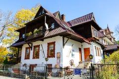 La maison familiale de Bronislaw Tchèque dans Zakopane Images libres de droits