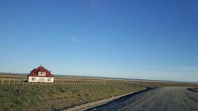 La maison - grande île de terre du feu - no man's land loin de civilisation images stock