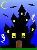 La maison hantée illustration de vecteur