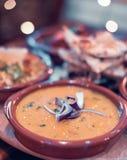 La maison indienne a fait Chana Daal photographie stock