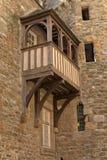 La maison la plus ancienne avec le balcon de Saint Malo brittany Photos stock