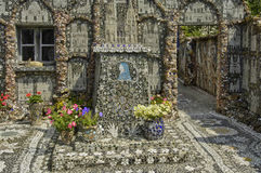 La Maison Picassiette, an old earthenware mosaic in Chartres Stock Photo