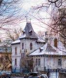 La maison privée ressemble à un petit château de conte de fées Images stock