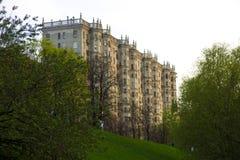 La maison ressemblée à un château Photos stock