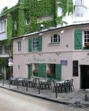 La Maison Rose Cafe Restaurant, Monmartre, Parijs, Frankrijk Stock Fotografie