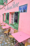 La Maison Rose, a famous cafe restaurent of Montmartre, all painted in pink Stock Image