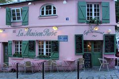 La Maison Rose restaurant on Montmartre in Paris Royalty Free Stock Image