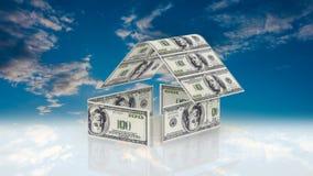 La maison se compose des factures d'argent liquide, le concept de l'investissement dans la construction, coûts d'argent pour la c clips vidéos