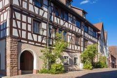 La maison supérieure de porte dans Dornstetten photo libre de droits