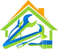La maison usine le logo Images stock