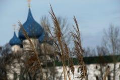 La majestad de los cielos azules hivernales del anillo de oro de Rusia - Suzdal - el KREMLIN - ARQUITECTURA imagenes de archivo