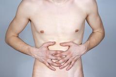 La maladie de l'estomac Image stock
