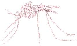 La maladie de malaria de nuage de Word connexe Image stock