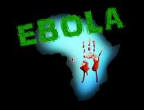 La maladie de pandémie de l'Afrique de virus Ebola Image stock