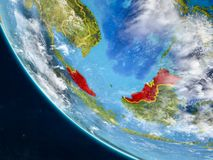 La Malaisie de l'espace sur terre illustration de vecteur