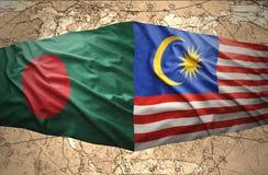 La Malaisie et le Bangladesh Image libre de droits