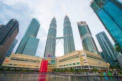 La Malaisie - 12 février 2017 : : Symbole de tour de Petronas de lum de Kuala Image libre de droits