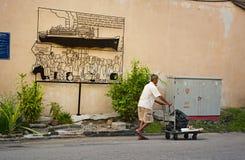LA MALAISIE, PENANG, GEORGETOWN - VERS EN JUILLET 2014 : Utilisation artistique de signe Photographie stock libre de droits
