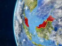 La Malaisie sur le globe de l'espace illustration libre de droits