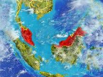 La Malaisie sur terre de l'espace illustration libre de droits