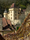 La Malartrie castle, La Roque-Gageac (France ). View of the La Malartrie castle in spring Stock Photo