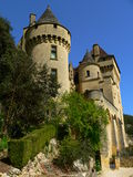 La Malartrie castle, La Roque-Gageac (France ). View of the La Malartrie castle in spring Royalty Free Stock Images