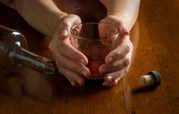 La malattia di alcolismo Fotografie Stock