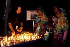La Malesia celebra l'ora 2011 della terra Fotografie Stock