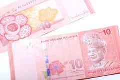 La Malesia 10 dollari di nota Fotografie Stock Libere da Diritti