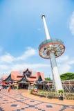 La Malesia - 11 febbraio 2017:: Rimorchio domante dei sari di Melaka Menara alto Fotografie Stock Libere da Diritti