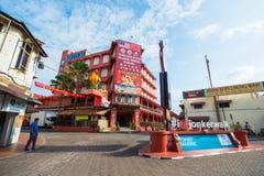 La Malesia - 11 febbraio 2017:: Strada dei negozi della passeggiata di Jonker in Mela Fotografia Stock Libera da Diritti
