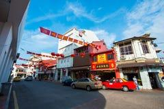 La Malesia - 11 febbraio 2017:: Strada dei negozi della passeggiata di Jonker in Mela Fotografie Stock Libere da Diritti