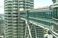La Malesia, Kuala Lumpur: Torrette di Petronas Fotografie Stock Libere da Diritti