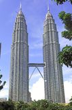 La Malesia, Kuala Lumpur: Torrette di Petronas Fotografia Stock Libera da Diritti