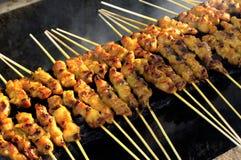 La Malesia, Langkawi: Sate il barbecue Fotografia Stock Libera da Diritti
