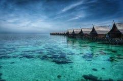 La Malesia Sipadan-Kapalai Dive Resort Immagine Stock Libera da Diritti