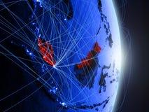 La Malesia su terra digitale blu blu immagine stock libera da diritti