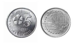 La Malesia una moneta da 5 centesimi Fotografia Stock
