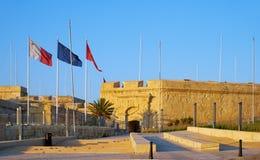 La Malta en el museo de la guerra, Birgu, Malta foto de archivo