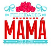 La mamá de Felicidades, enhorabuena mima al texto español libre illustration
