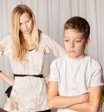 La mamá jura por el hijo Fotografía de archivo