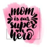 La mam? es nuestro superh?roe stock de ilustración