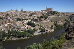 托莱多城堡- La Mancha -西班牙 库存照片